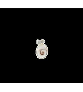 Pendentif œil de sainte Lucie de méditerranée ovale petit modèle  - Pendentif œil de sainte Lucie de méditerranée ovale petit mo