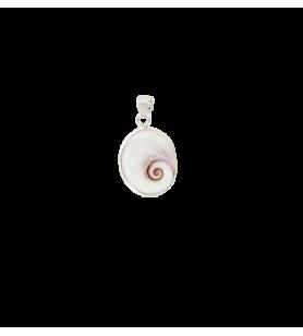 Pendentif œil de sainte Lucie de méditerranée ovale moyen modèle  - Pendentif œil de sainte Lucie de méditerranée ovale moyen mo