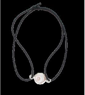 Bracciale elastico e occhio di santa lucia mediterraneo rotondo  - Bracciale elastico e occhio di santa lucia mediterraneo roton
