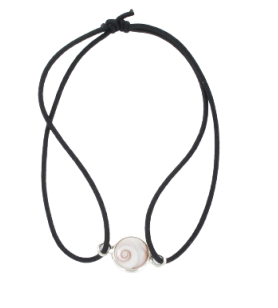Elastic bracelet and round mediterranean saint lucia's eye  - Elastic bracelet and round mediterranean saint lucia's eye set in