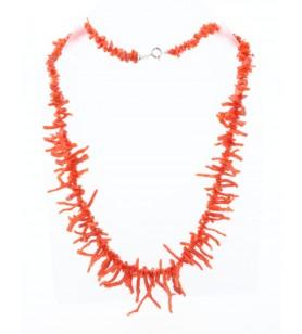 Collier en corail forme franges