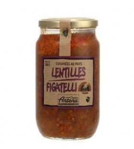 Figatelli Lentils Corsica Gastronomia - 800g  - Figatelli Lentils Corsica Gastronomia - 800g