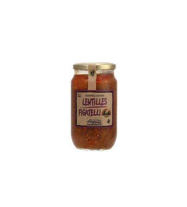 Lentilles Figatelli Corsica Gastronomia 800 Gr