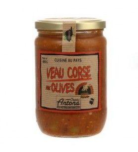 Kalf Corsica, met olijven Corsica Gastronomia 600 Gr