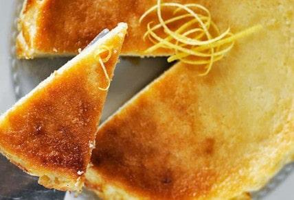 Recipe of Fiadone: a lemon & brocciu cake